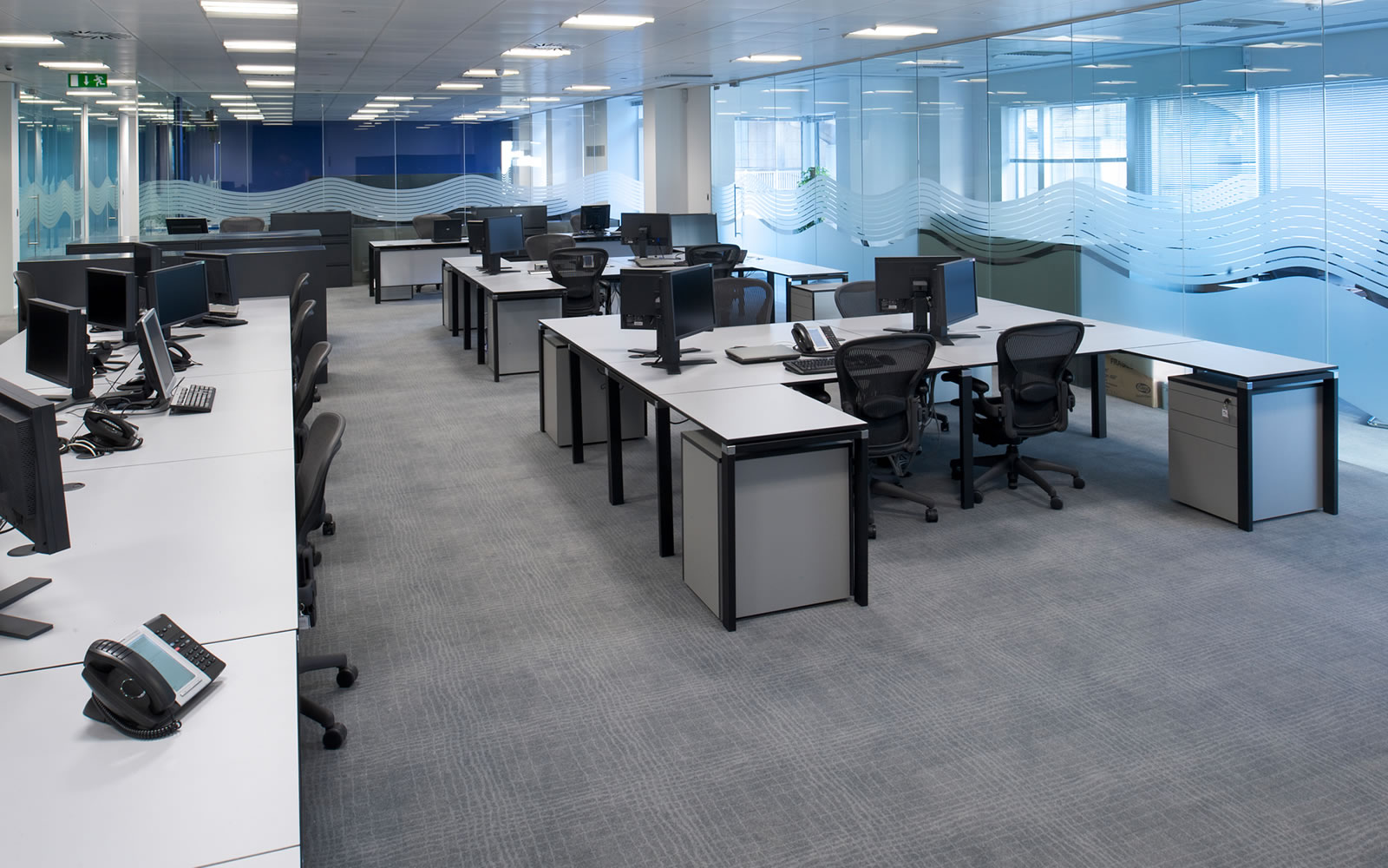 Office refurbishment london office design fit out for Picture of an office